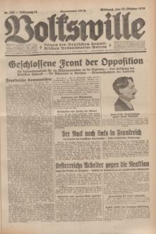 Volkswille : Organ der Deutschen Sozialistischen Arbeitspartei Polens. Jg.14, Nr. 244 (23 Oktober 1929) + dod.