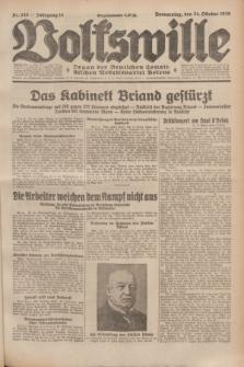 Volkswille : Organ der Deutschen Sozialistischen Arbeitspartei Polens. Jg.14, Nr. 245 (24 Oktober 1929) + dod.