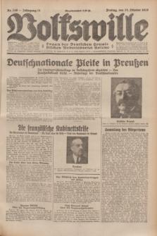 Volkswille : Organ der Deutschen Sozialistischen Arbeitspartei Polens. Jg.14, Nr. 246 (25 Oktober 1929) + dod.