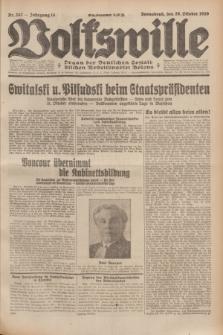Volkswille : Organ der Deutschen Sozialistischen Arbeitspartei Polens. Jg.14, Nr. 247 (26 Oktober 1929) + dod.