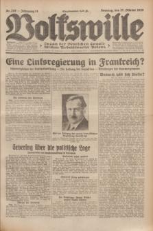 Volkswille : Organ der Deutschen Sozialistischen Arbeitspartei Polens. Jg.14, Nr. 248 (27 Oktober 1929) + dod.