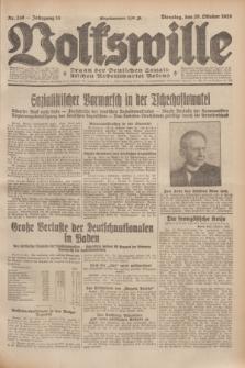 Volkswille : Organ der Deutschen Sozialistischen Arbeitspartei Polens. Jg.14, Nr. 249 (29 Oktober 1929) + dod.