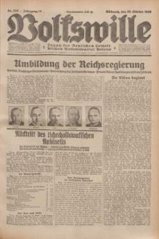 Volkswille : Organ der Deutschen Sozialistischen Arbeitspartei Polens. Jg.14, Nr. 250 (30 Oktober 1929) + dod.