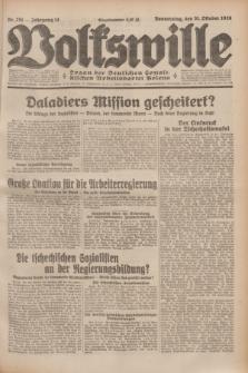 Volkswille : Organ der Deutschen Sozialistischen Arbeitspartei Polens. Jg.14, Nr. 251 (31 Oktober 1929) + dod.