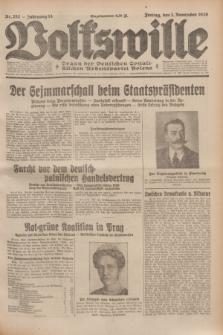 Volkswille : Organ der Deutschen Sozialistischen Arbeitspartei Polens. Jg.14, Nr. 252 (1 November 1929) + dod.