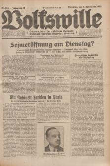 Volkswille : Organ der Deutschen Sozialistischen Arbeitspartei Polens. Jg.14, Nr. 254 (5 November 1929) + dod.