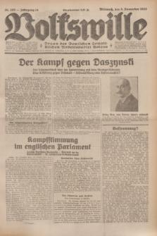 Volkswille : Organ der Deutschen Sozialistischen Arbeitspartei Polens. Jg.14, Nr. 255 (6 November 1929) + dod.