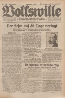 Volkswille : Organ der Deutschen Sozialistischen Arbeitspartei Polens. Jg.14, Nr. 256 (7 November 1929) + dod.