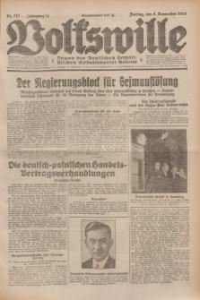 Volkswille : Organ der Deutschen Sozialistischen Arbeitspartei Polens. Jg.14, Nr. 257 (8 November 1929) + dod.