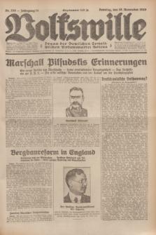Volkswille : Organ der Deutschen Sozialistischen Arbeitspartei Polens. Jg.14, Nr. 259 (10 November 1929) + dod.
