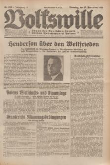 Volkswille : Organ der Deutschen Sozialistischen Arbeitspartei Polens. Jg.14, Nr. 260 (12 November 1929) + dod.
