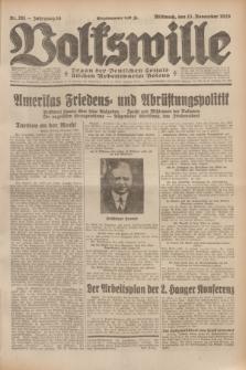 Volkswille : Organ der Deutschen Sozialistischen Arbeitspartei Polens. Jg.14, Nr. 261 (13 November 1929) + dod.