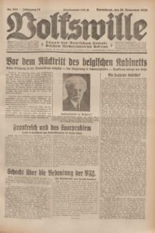 Volkswille : Organ der Deutschen Sozialistischen Arbeitspartei Polens. Jg.14, Nr. 264 (16 November 1929) + dod.