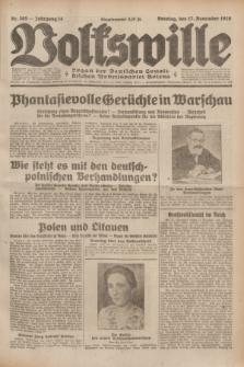 Volkswille : Organ der Deutschen Sozialistischen Arbeitspartei Polens. Jg.14, Nr. 265 (17 November 1929) + dod.