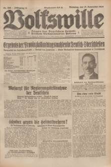 Volkswille : Organ der Deutschen Sozialistischen Arbeitspartei Polens. Jg.14, Nr. 266 (19 November 1929) + dod.