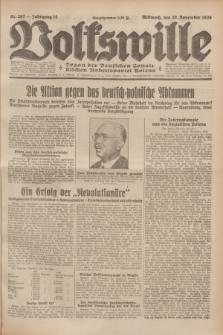 Volkswille : Organ der Deutschen Sozialistischen Arbeitspartei Polens. Jg.14, Nr. 267 (20 November 1929) + dod.