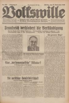 Volkswille : Organ der Deutschen Sozialistischen Arbeitspartei Polens. Jg.14, Nr. 269 (22 November 1929) + dod.
