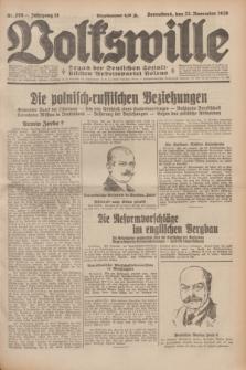 Volkswille : Organ der Deutschen Sozialistischen Arbeitspartei Polens. Jg.14, Nr. 270 (23 November 1929) + dod.