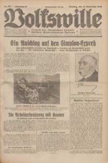 Volkswille : Organ der Deutschen Sozialistischen Arbeitspartei Polens. Jg.14, Nr. 271 (24 November 1929) + dod.