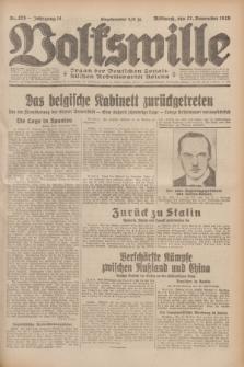 Volkswille : Organ der Deutschen Sozialistischen Arbeitspartei Polens. Jg.14, Nr. 273 (27 November 1929) + dod.