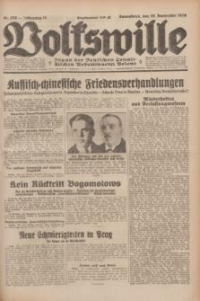 Volkswille : Organ der Deutschen Sozialistischen Arbeitspartei Polens. Jg.14, Nr. 276 (30 November 1929) + dod.