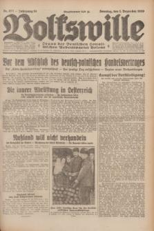 Volkswille : Organ der Deutschen Sozialistischen Arbeitspartei Polens. Jg.14, Nr. 277 (1 Dezember 1929) + dod.