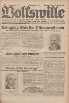 Volkswille : Organ der Deutschen Sozialistischen Arbeitspartei Polens. Jg.14, Nr. 278 (3 Dezember 1929) + dod.