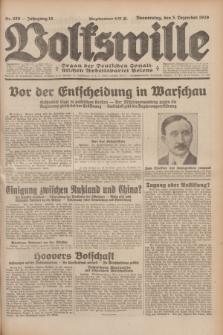 Volkswille : Organ der Deutschen Sozialistischen Arbeitspartei Polens. Jg.14, Nr. 280 (5 Dezember 1929) + dod.