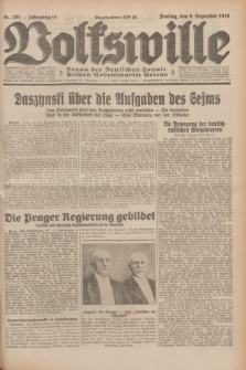 Volkswille : Organ der Deutschen Sozialistischen Arbeitspartei Polens. Jg.14, Nr. 281 (6 Dezember 1929) + dod.