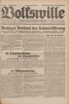 Volkswille : Organ der Deutschen Sozialistischen Arbeitspartei Polens. Jg.14, Nr. 282 (7 Dezember 1929) + dod.