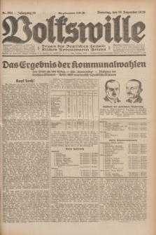 Volkswille : Organ der Deutschen Sozialistischen Arbeitspartei Polens. Jg.14, Nr. 284 (10 Dezember 1929) + dod.