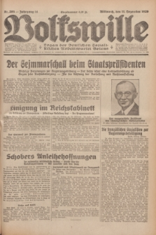 Volkswille : Organ der Deutschen Sozialistischen Arbeitspartei Polens. Jg.14, Nr. 285 (11 Dezember 1929) + dod.