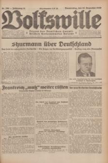 Volkswille : Organ der Deutschen Sozialistischen Arbeitspartei Polens. Jg.14, Nr. 286 (12 Dezember 1929) + dod.
