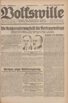 Volkswille : Organ der Deutschen Sozialistischen Arbeitspartei Polens. Jg.14, Nr. 287 (13 Dezember 1929) + dod.