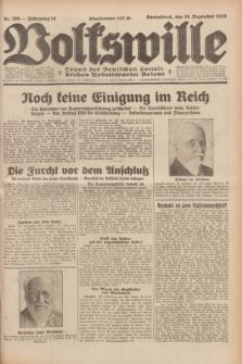 Volkswille : Organ der Deutschen Sozialistischen Arbeitspartei Polens. Jg.14, Nr. 288 (14 Dezember 1929) + dod.