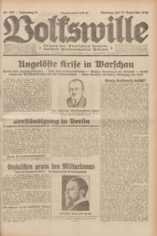 Volkswille : Organ der Deutschen Sozialistischen Arbeitspartei Polens. Jg.14, Nr. 289 (15 Dezember 1929) + dod.