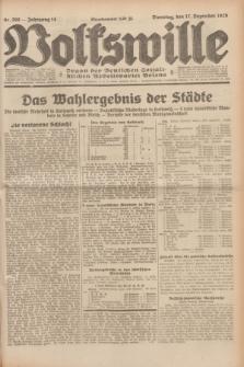 Volkswille : Organ der Deutschen Sozialistischen Arbeitspartei Polens. Jg.14, Nr. 290 (17 Dezember 1929) + dod.