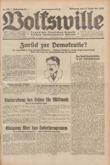 Volkswille : Organ der Deutschen Sozialistischen Arbeitspartei Polens. Jg.14, Nr. 291 (18 Dezember 1929) + dod.