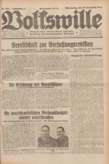 Volkswille : Organ der Deutschen Sozialistischen Arbeitspartei Polens. Jg.14, Nr. 292 (19 Dezember 1929) + dod.