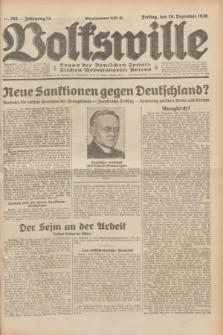 Volkswille : Organ der Deutschen Sozialistischen Arbeitspartei Polens. Jg.14, Nr. 293 (20 Dezember 1929) + dod.