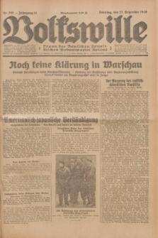 Volkswille : Organ der Deutschen Sozialistischen Arbeitspartei Polens. Jg.14, Nr. 295 (22 Dezember 1929) + dod.