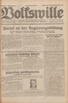 Volkswille : Organ der Deutschen Sozialistischen Arbeitspartei Polens. Jg.14, Nr. 296 (24 Dezember 1929) + dod.