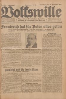 Volkswille : Organ der Deutschen Sozialistischen Arbeitspartei Polens. Jg.14, Nr. 298 (28 Dezember 1929) + dod.