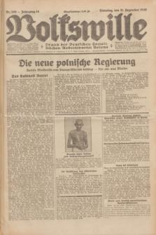 Volkswille : Organ der Deutschen Sozialistischen Arbeitspartei Polens. Jg.14, Nr. 300 (31 Dezember 1929) + dod.