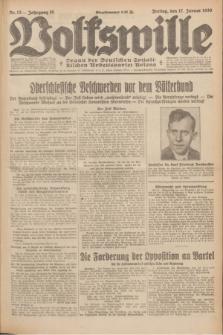 Volkswille : Organ der Deutschen Sozialistischen Arbeitspartei Polens. Jg.15, Nr. 13 (17 Januar 1930) + dod.