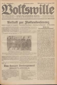 Volkswille : Organ der Deutschen Sozialistischen Arbeitspartei Polens. Jg.15, Nr. 17 (22 Januar 1930) + dod.