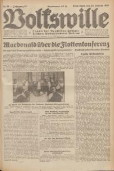 Volkswille : Organ der Deutschen Sozialistischen Arbeitspartei Polens. Jg.15, Nr. 20 (25 Januar 1930) + dod.