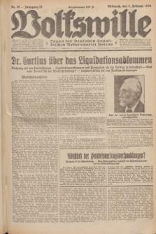 Volkswille : Organ der Deutschen Sozialistischen Arbeitspartei Polens. Jg.15, Nr. 29 (5 Februar 1930) + dod.