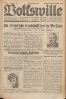 Volkswille : Organ der Deutschen Sozialistischen Arbeitspartei Polens. Jg.15, Nr. 34 (11 Februar 1930) + dod.