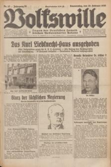 Volkswille : Organ der Deutschen Sozialistischen Arbeitspartei Polens. Jg.15, Nr. 42 (20 Februar 1930) + dod.